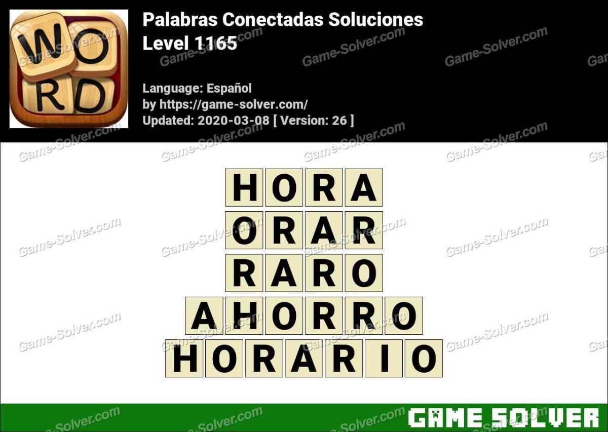 Palabras Conectadas Nivel 1165 Soluciones