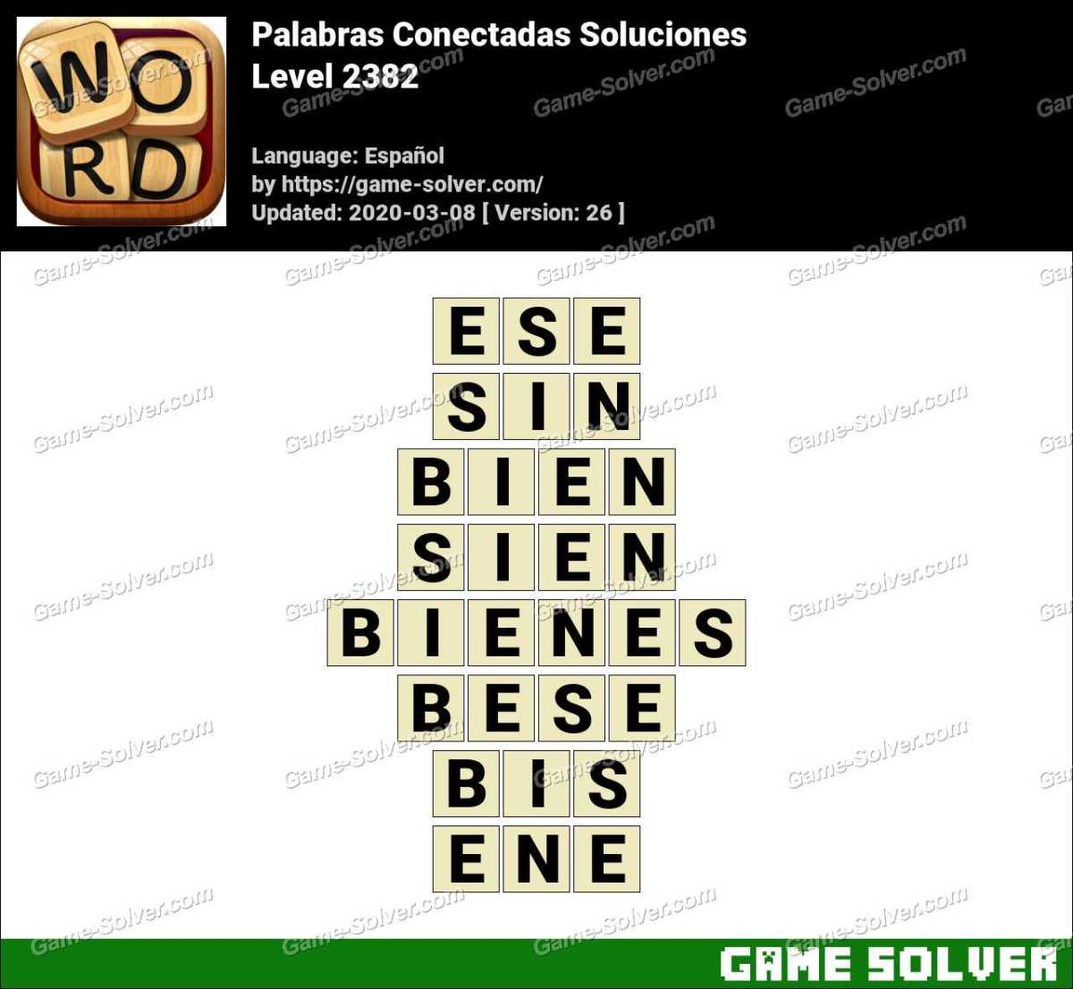 Palabras Conectadas Nivel 2382 Soluciones