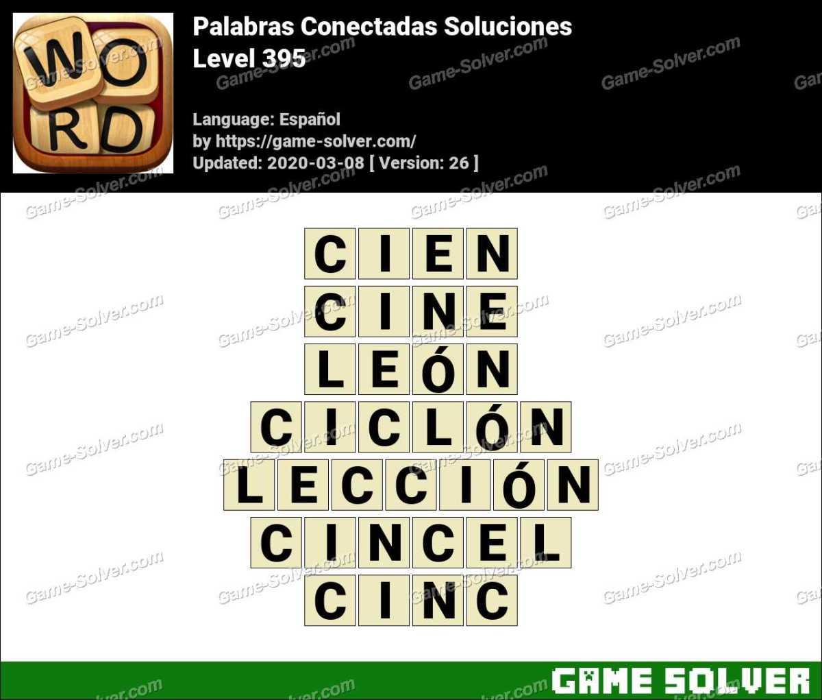 Palabras Conectadas Nivel 395 Soluciones