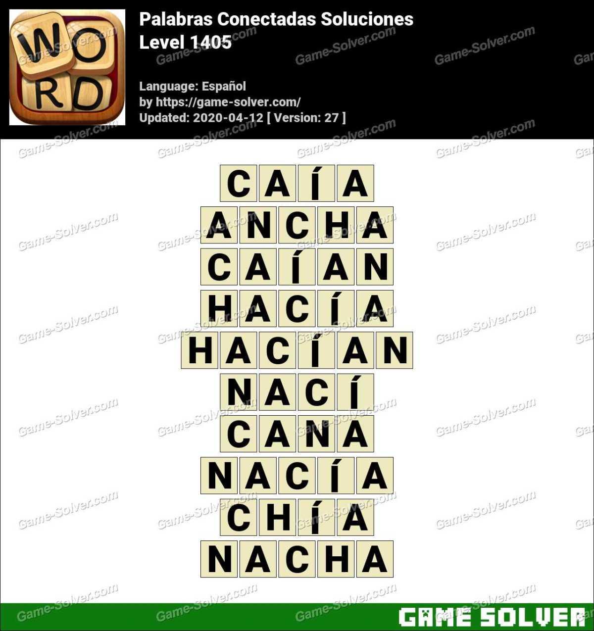 Palabras Conectadas Nivel 1405 Soluciones