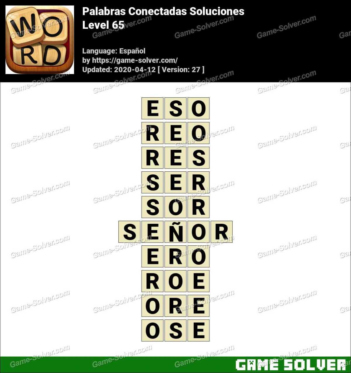 Palabras Conectadas Nivel 65 Soluciones
