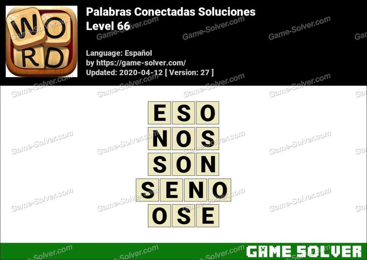 Palabras Conectadas Nivel 66 Soluciones