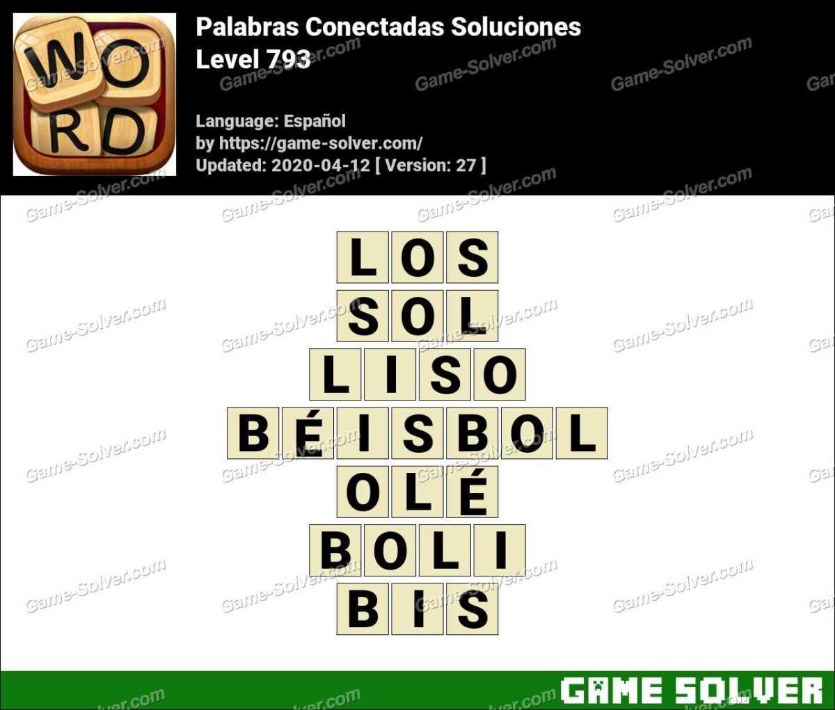 Palabras Conectadas Nivel 793 Soluciones