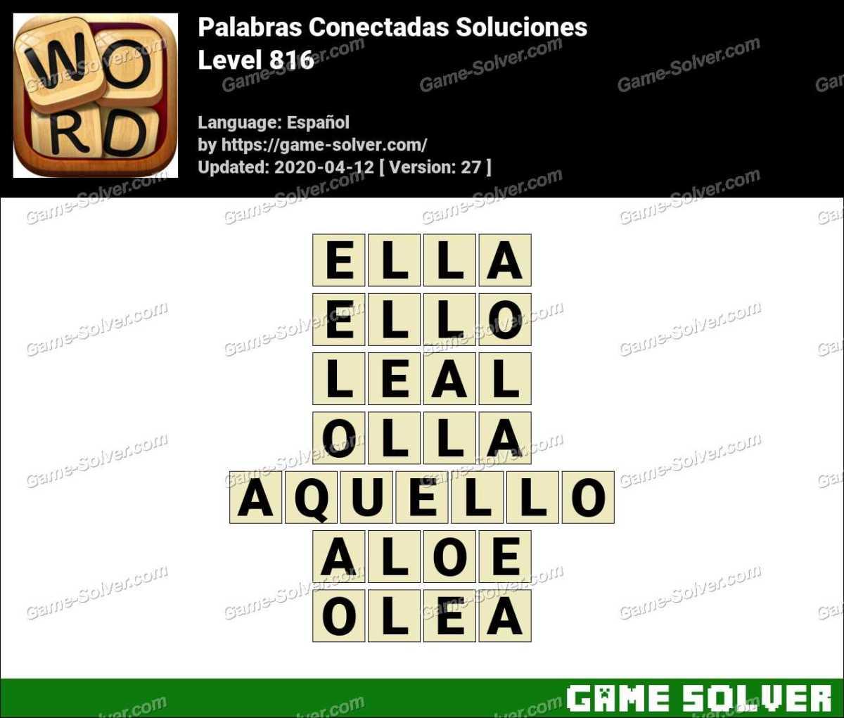 Palabras Conectadas Nivel 816 Soluciones