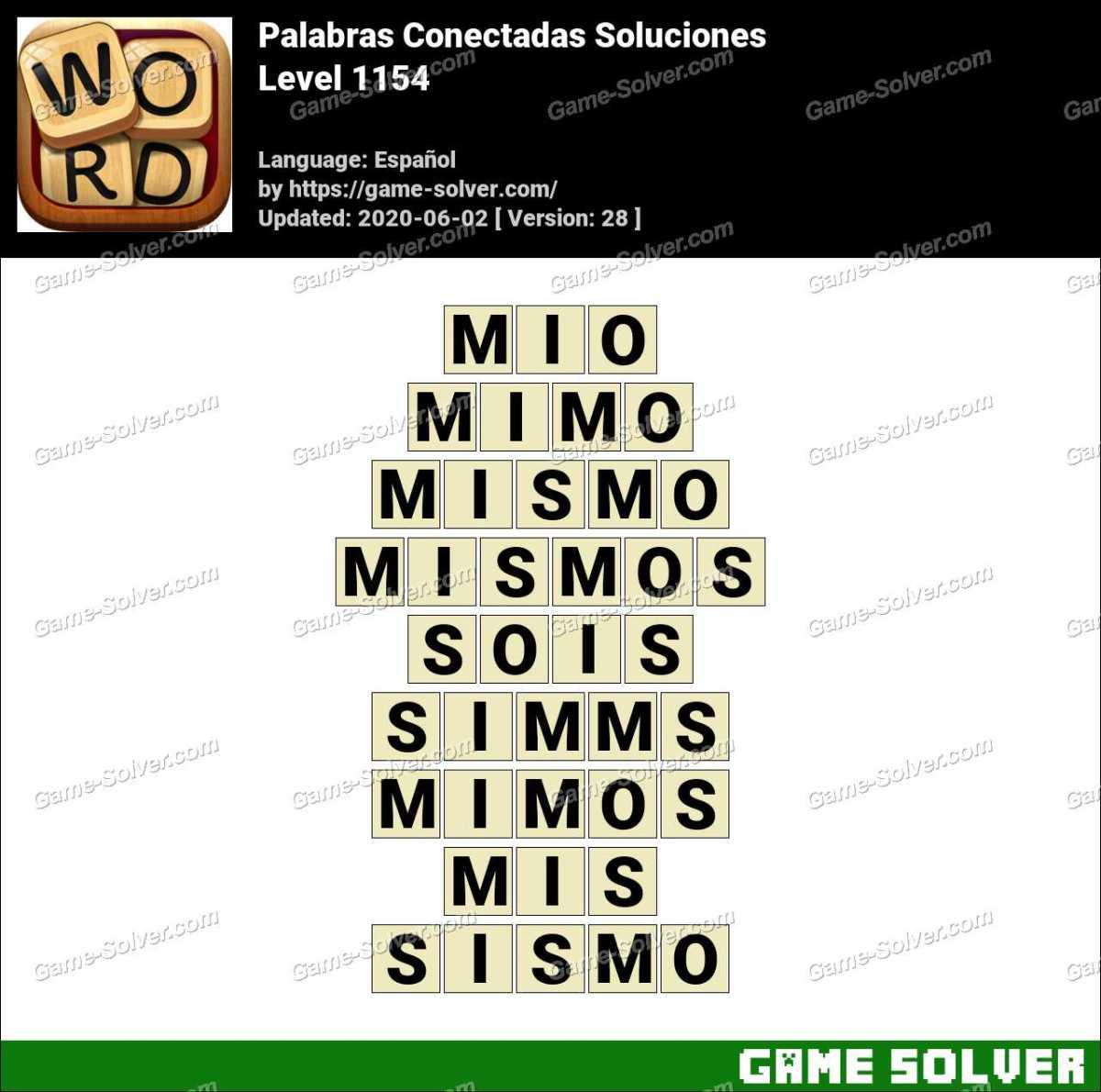 Palabras Conectadas Nivel 1154 Soluciones