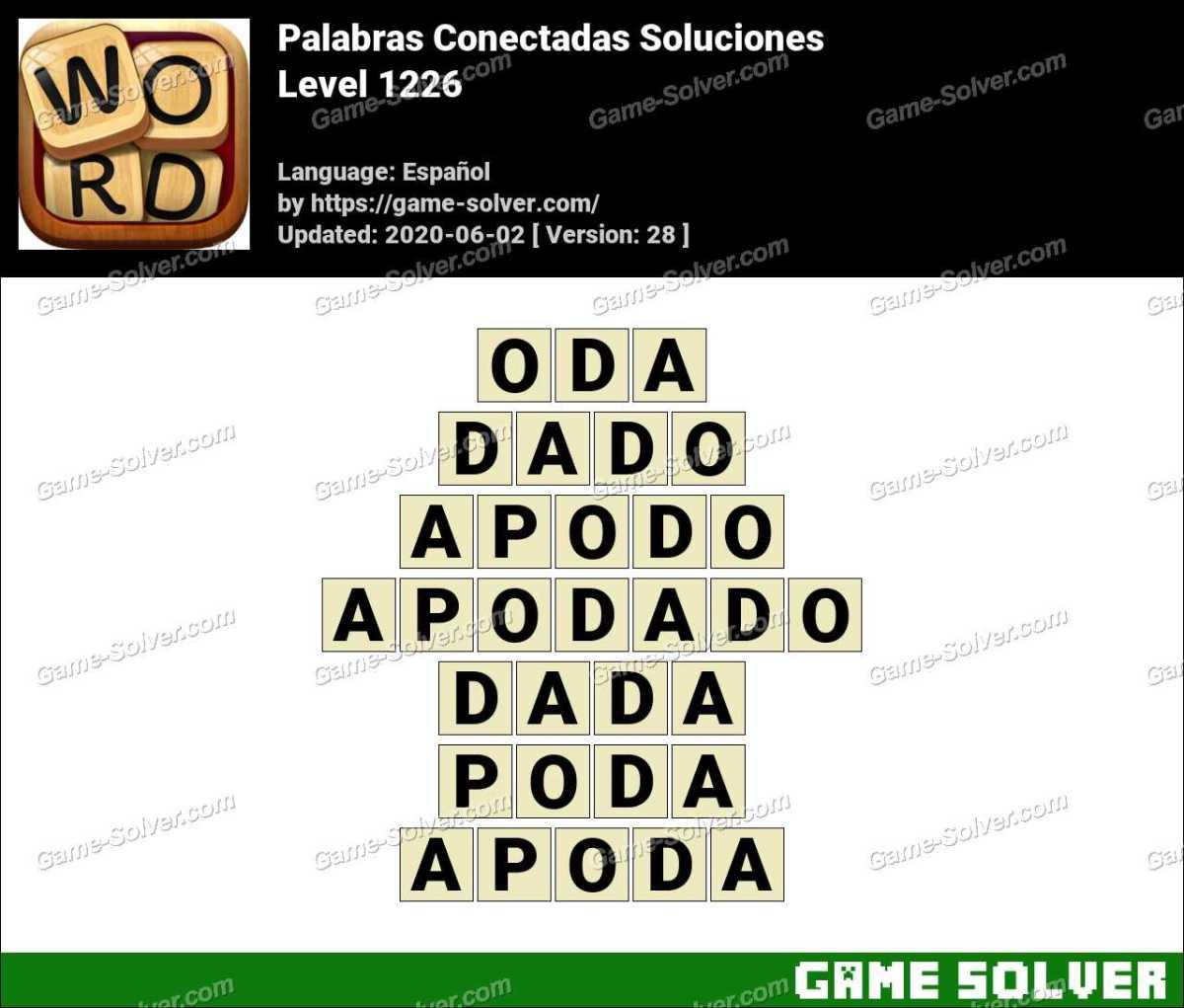 Palabras Conectadas Nivel 1226 Soluciones