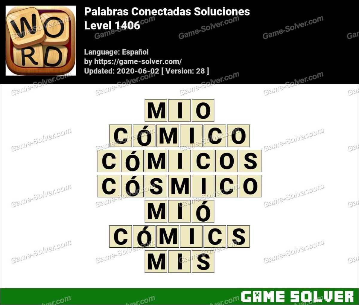 Palabras Conectadas Nivel 1406 Soluciones