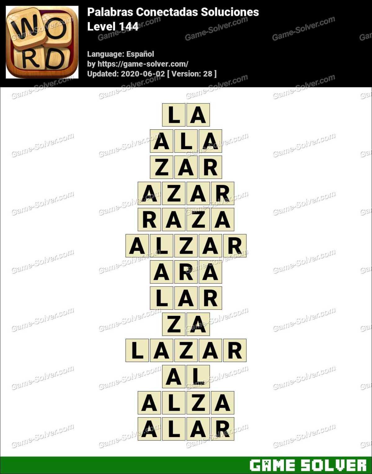 Palabras Conectadas Nivel 144 Soluciones