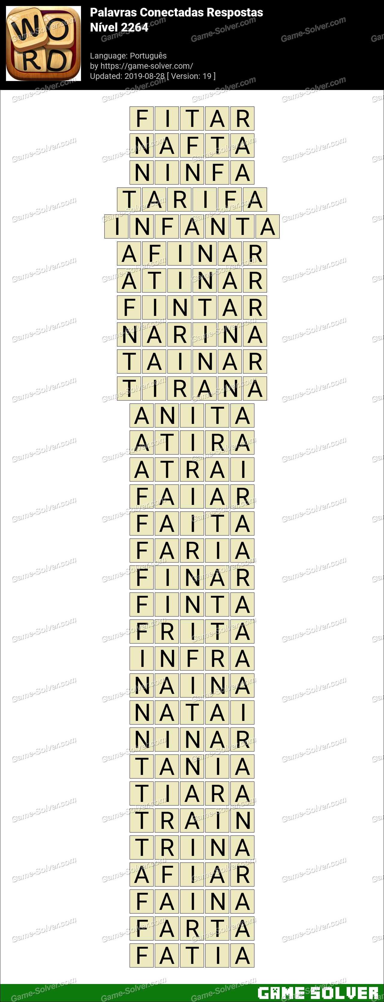 Palavras Conectadas Nivel 2264 Respostas