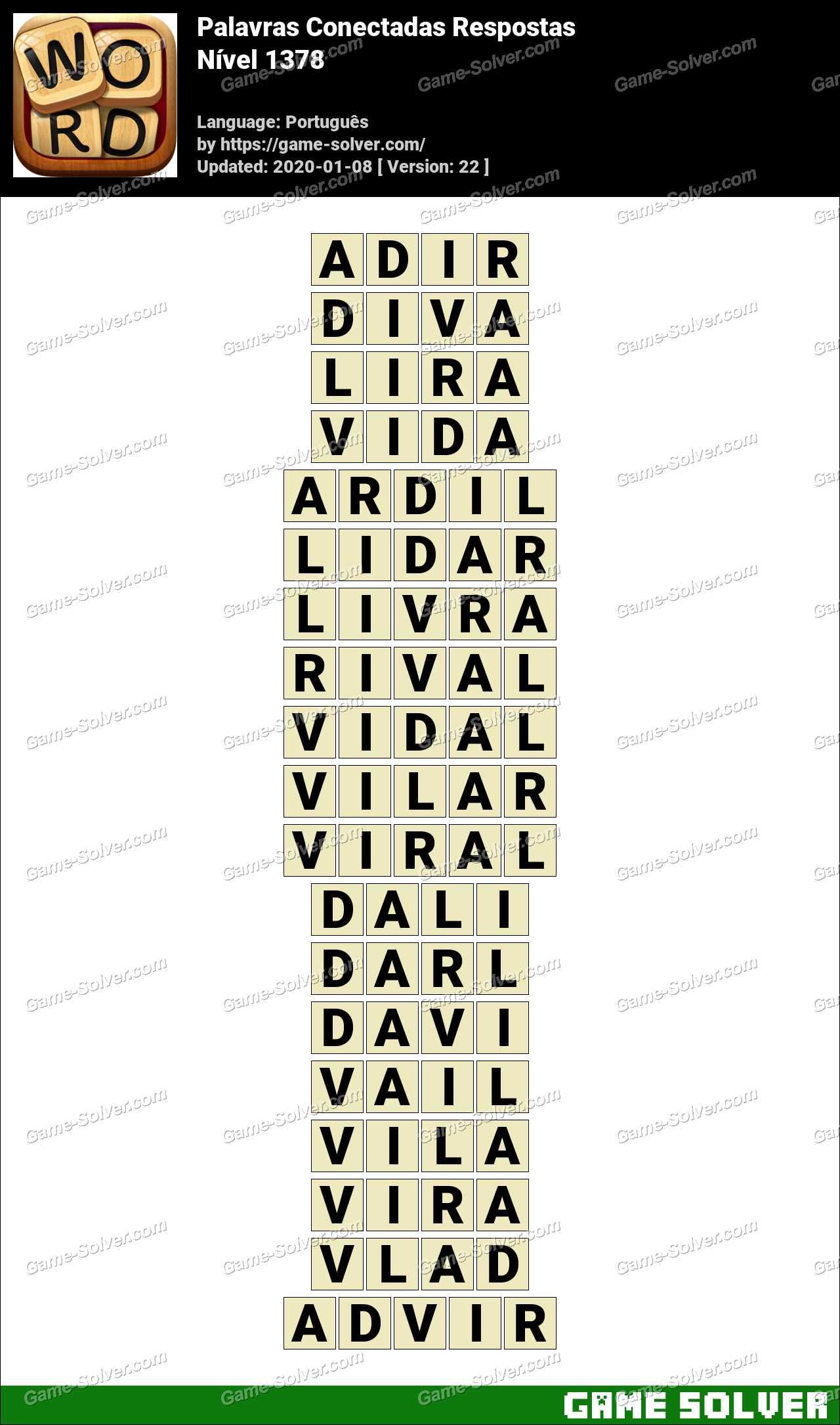 Palavras Conectadas Nivel 1378 Respostas