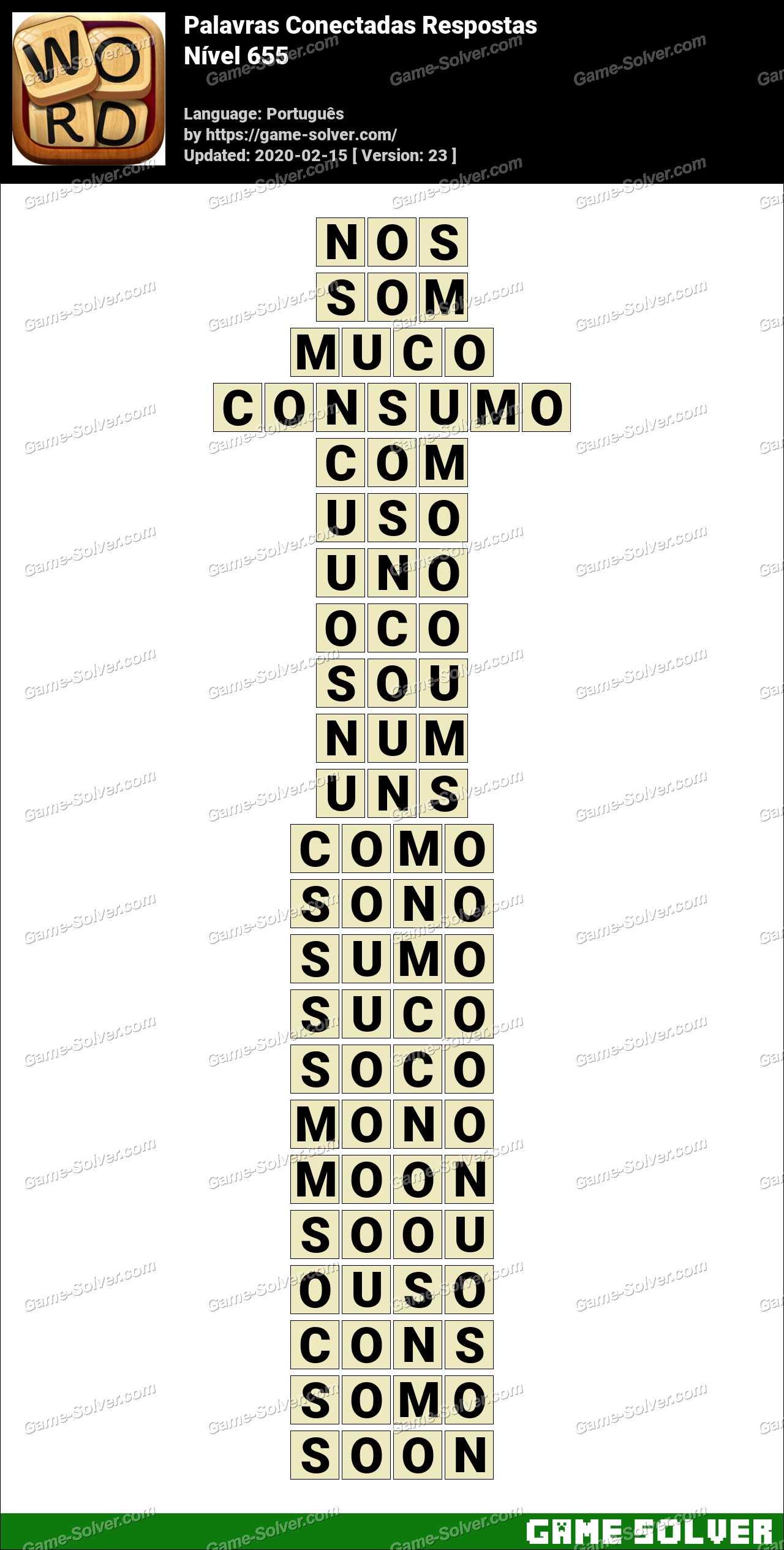 Palavras Conectadas Nivel 655 Respostas