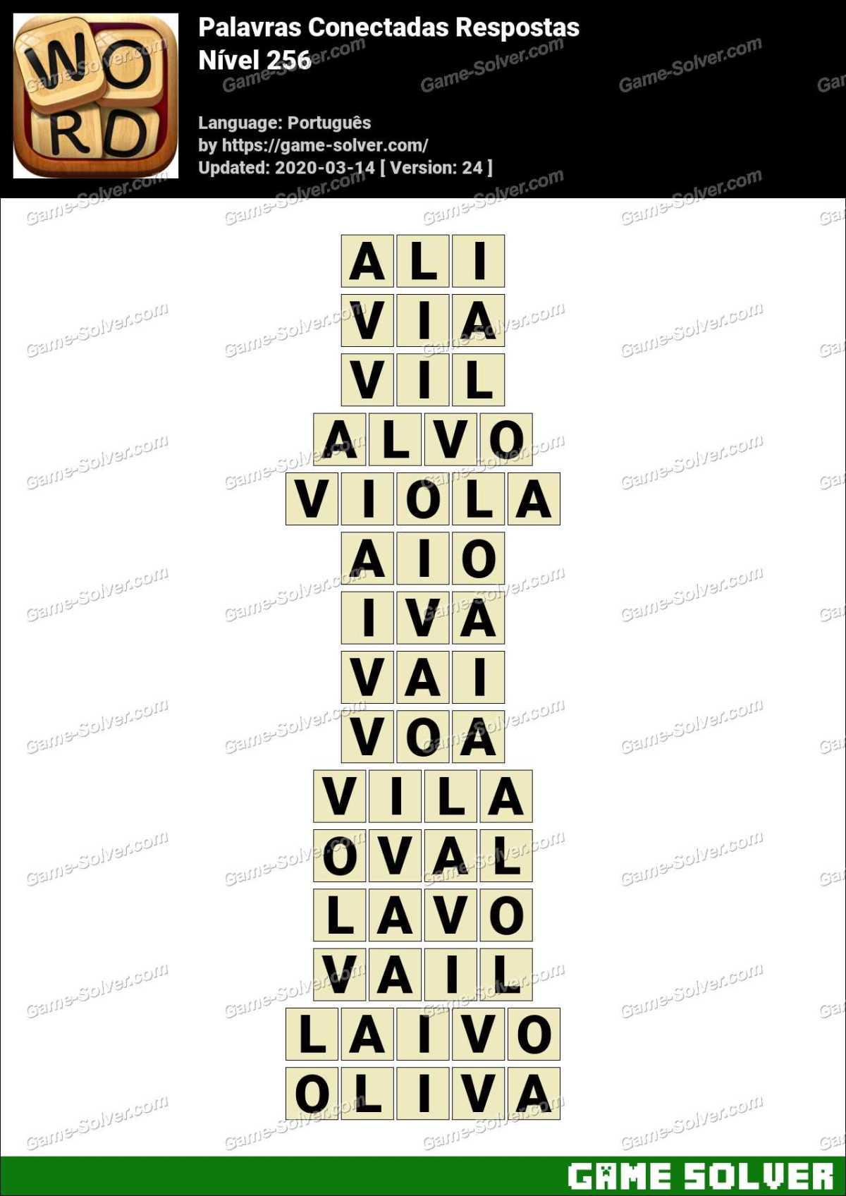 Palavras Conectadas Nivel 256 Respostas