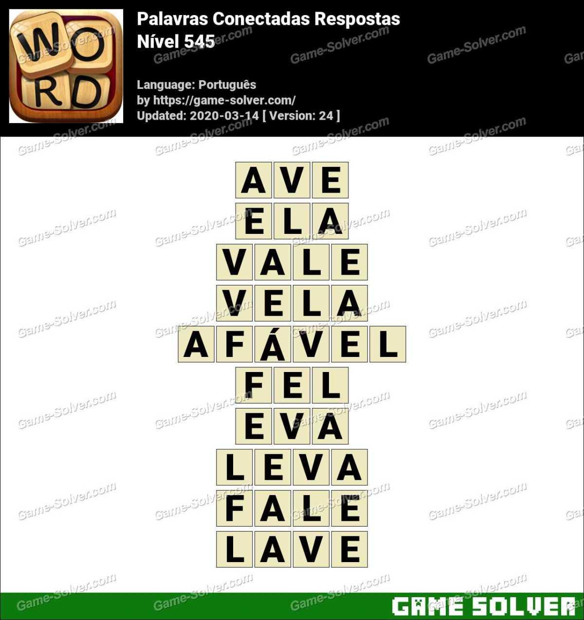 Palavras Conectadas Nivel 545 Respostas