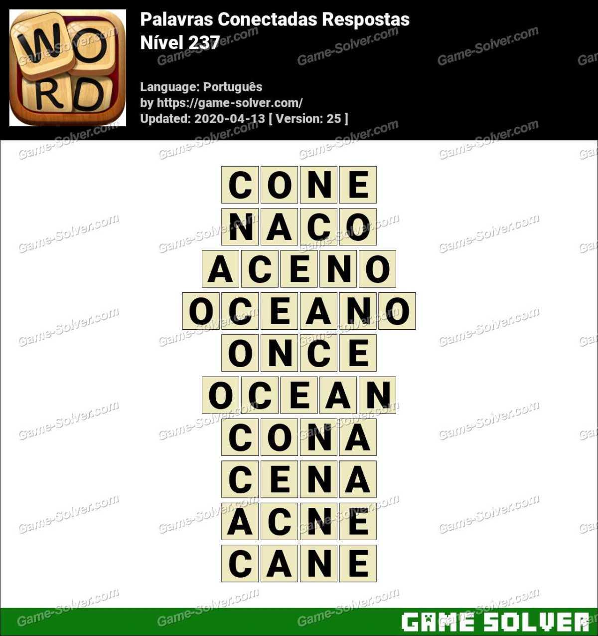 Palavras Conectadas Nivel 237 Respostas