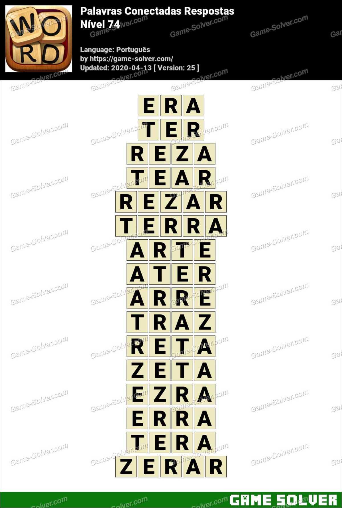 Palavras Conectadas Nivel 74 Respostas