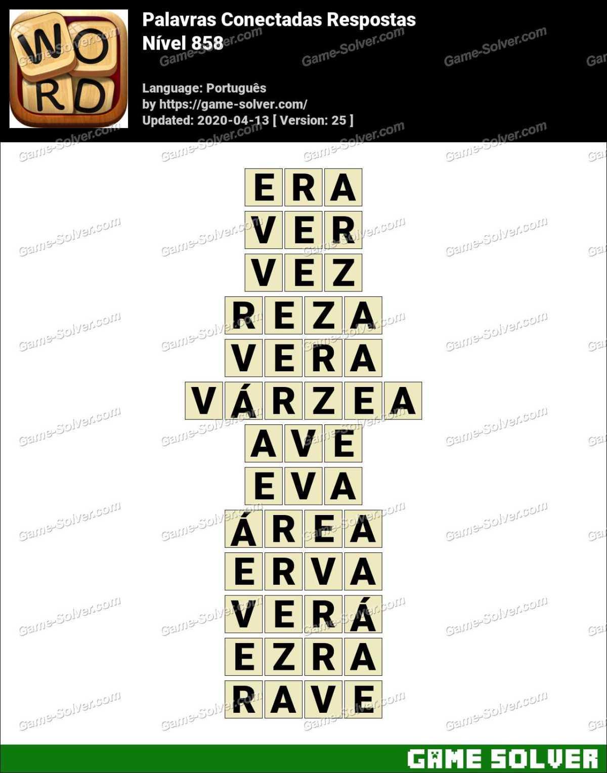 Palavras Conectadas Nivel 858 Respostas