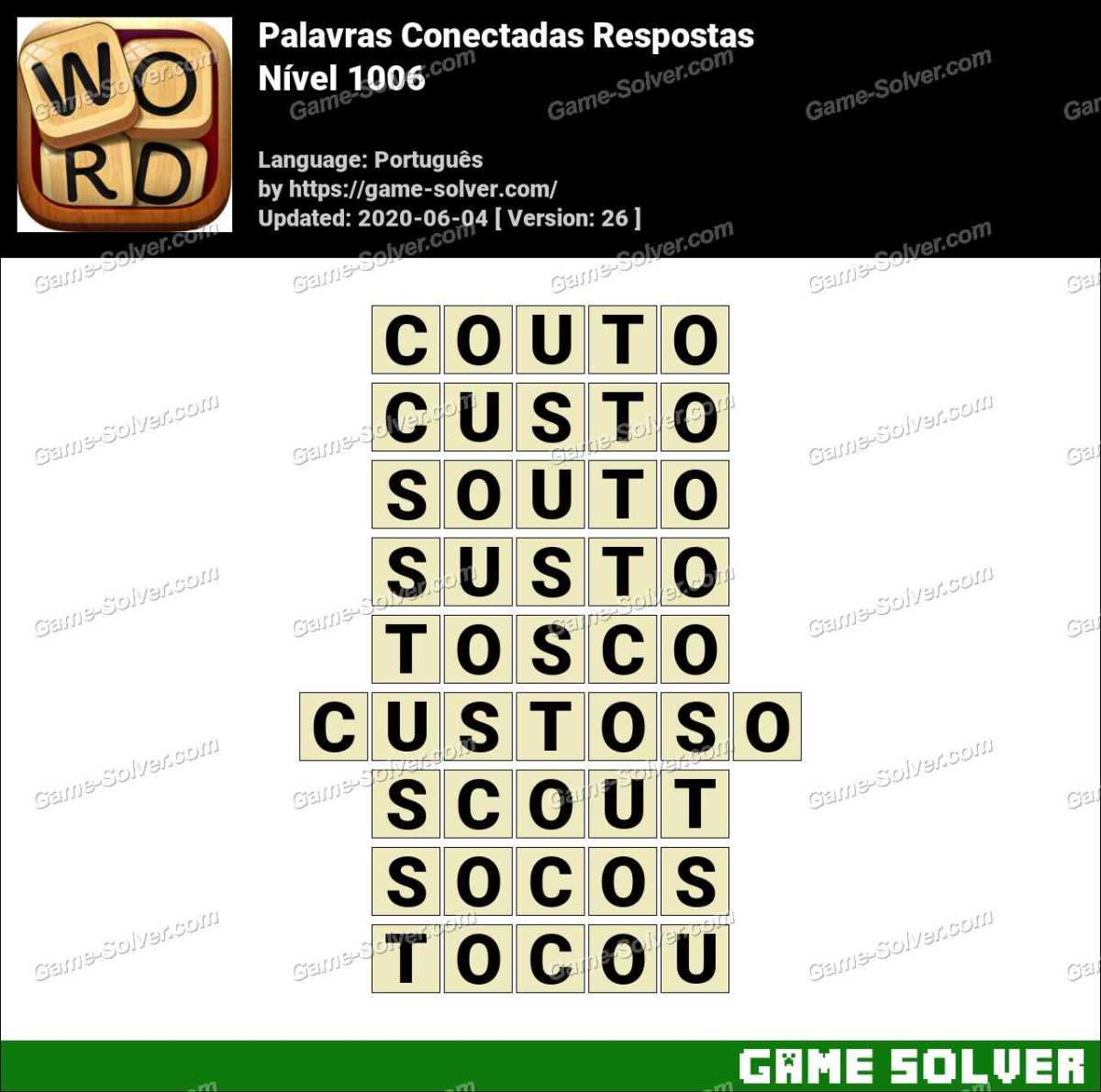 Palavras Conectadas Nivel 1006 Respostas