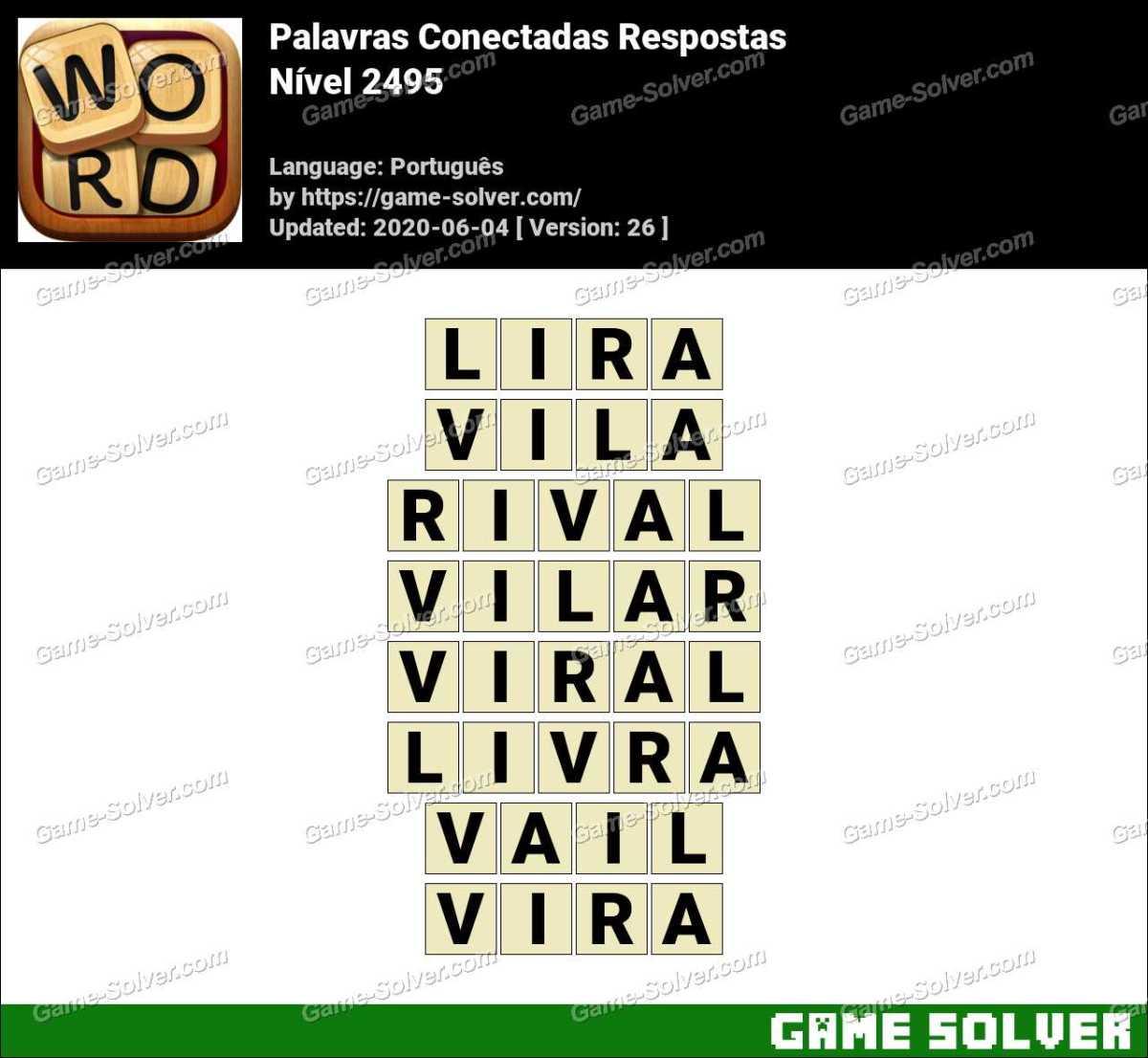 Palavras Conectadas Nivel 2495 Respostas