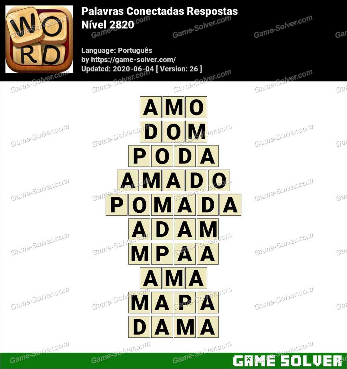 Palavras Conectadas Nivel 2820 Respostas