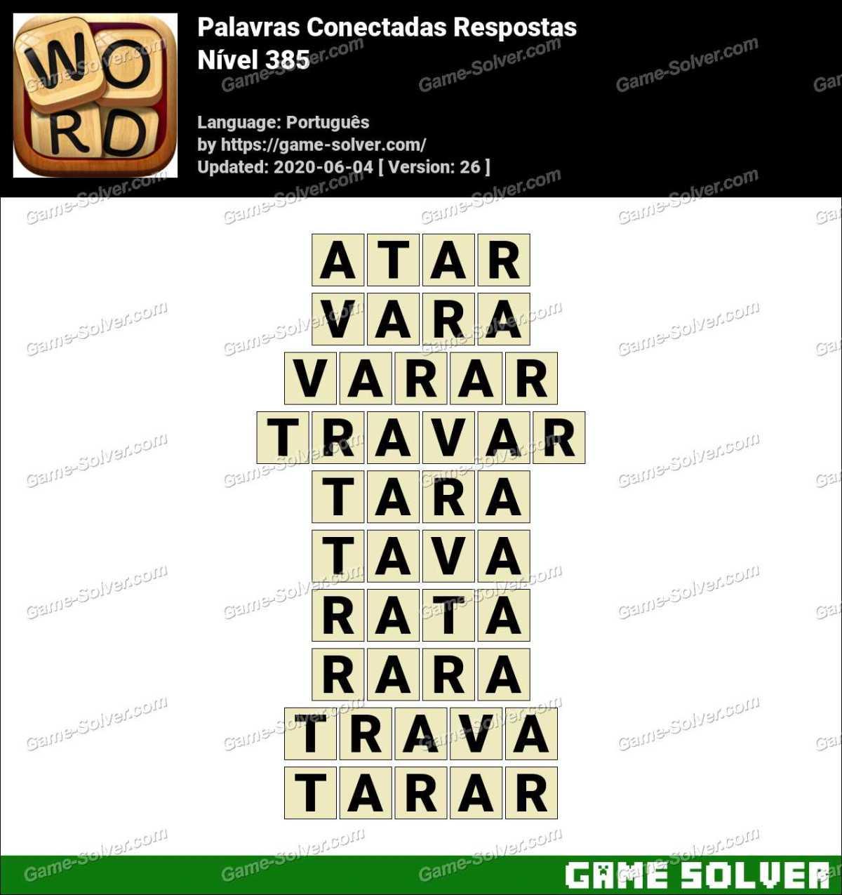 Palavras Conectadas Nivel 385 Respostas