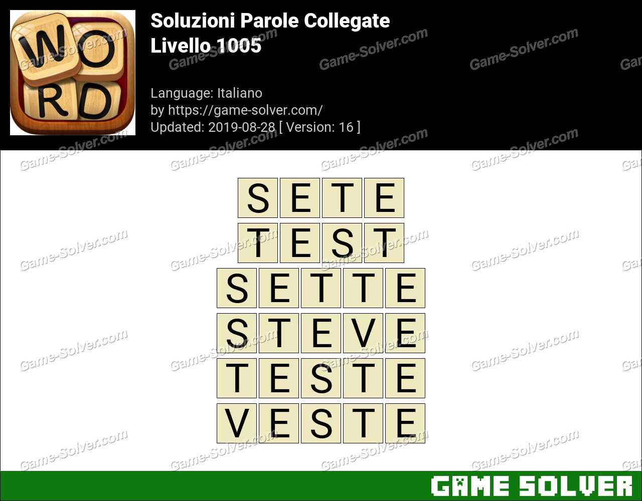 Soluzioni Parole Collegate Livello 1005
