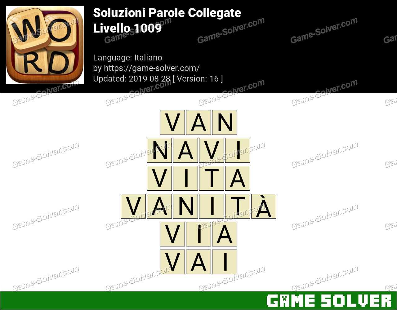 Soluzioni Parole Collegate Livello 1009