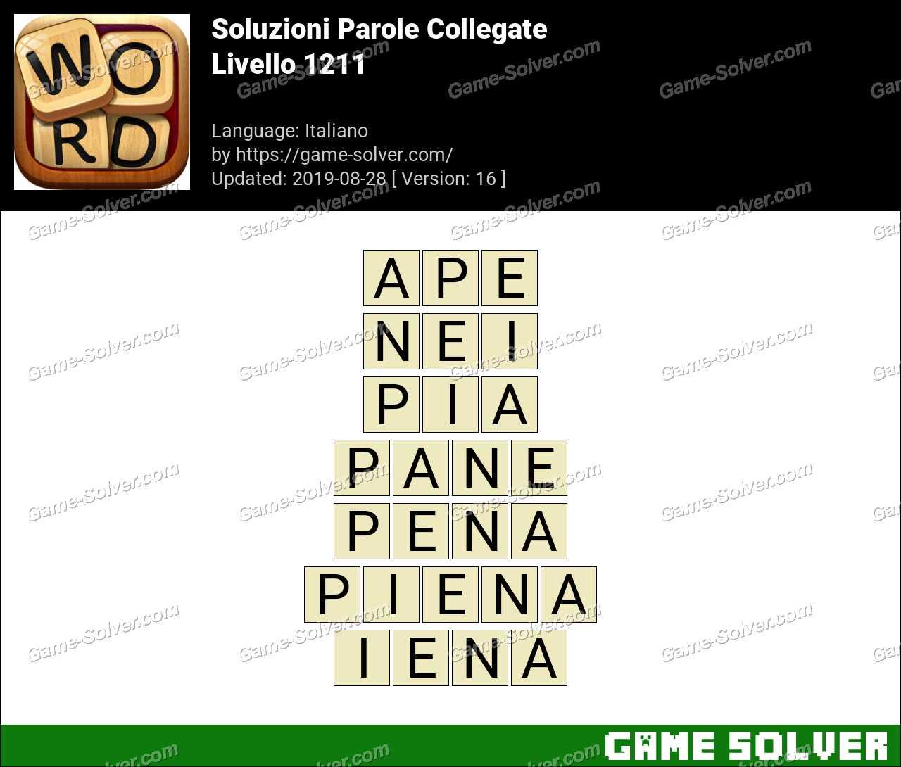 Soluzioni Parole Collegate Livello 1211