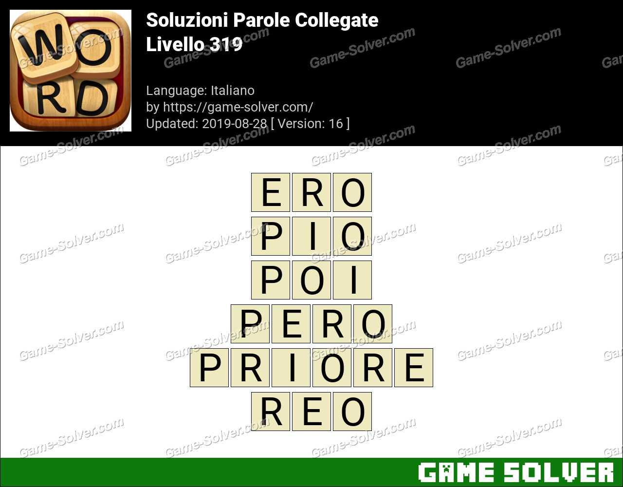 Soluzioni Parole Collegate Livello 319