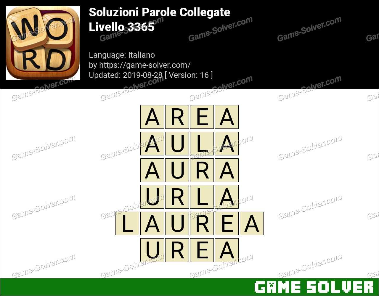 Soluzioni Parole Collegate Livello 3365