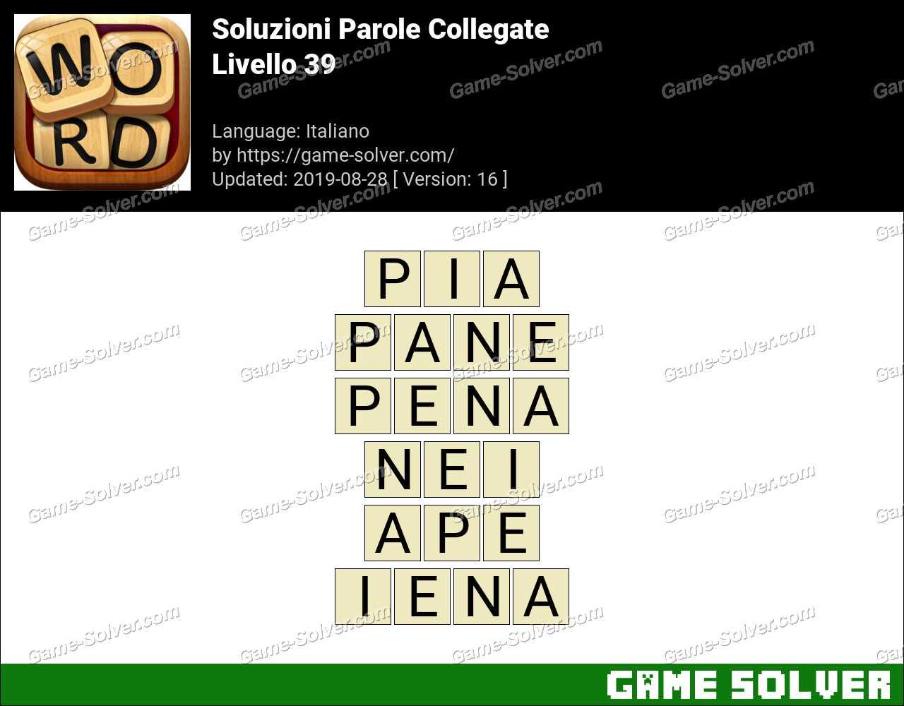 Soluzioni Parole Collegate Livello 39