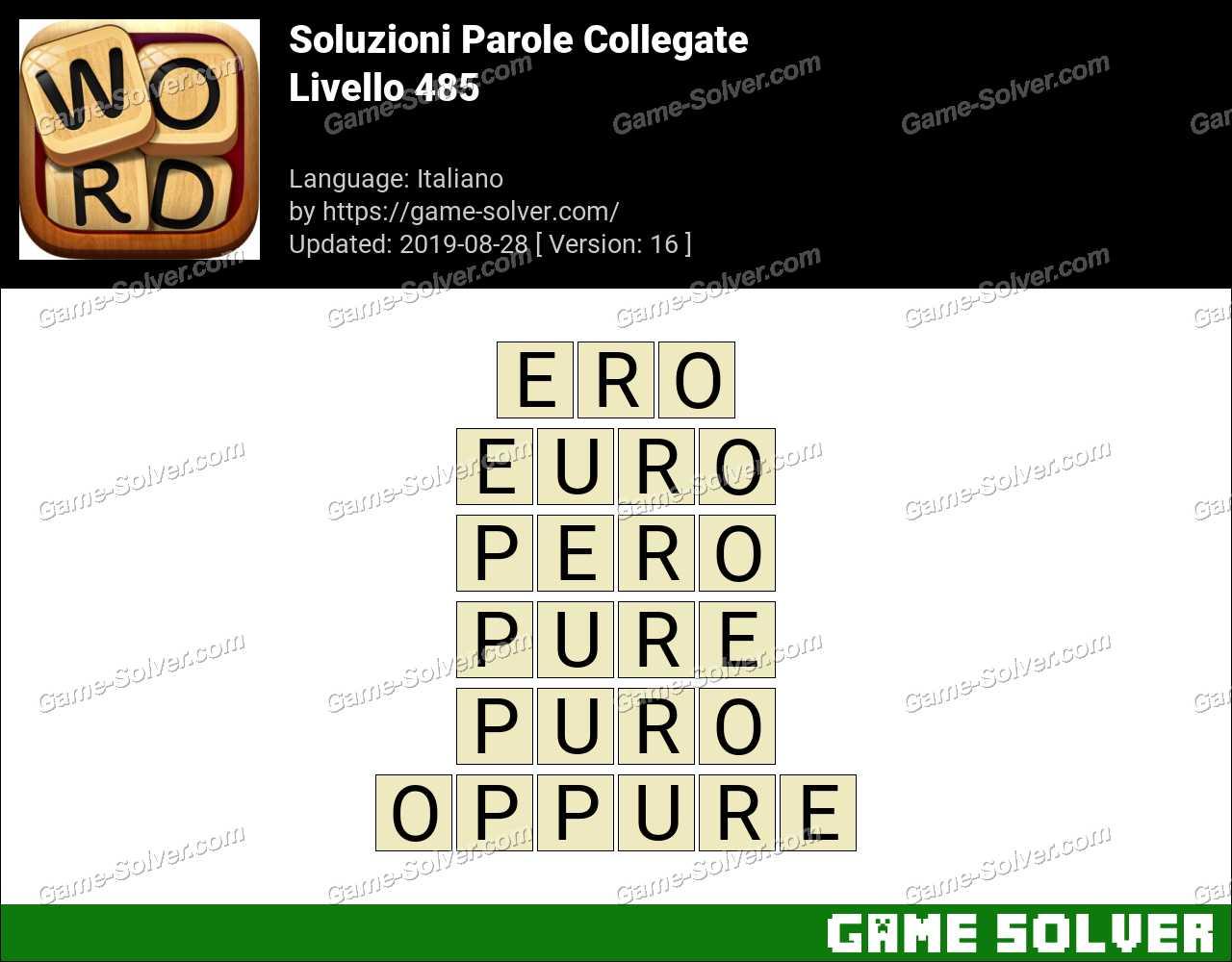 Soluzioni Parole Collegate Livello 485