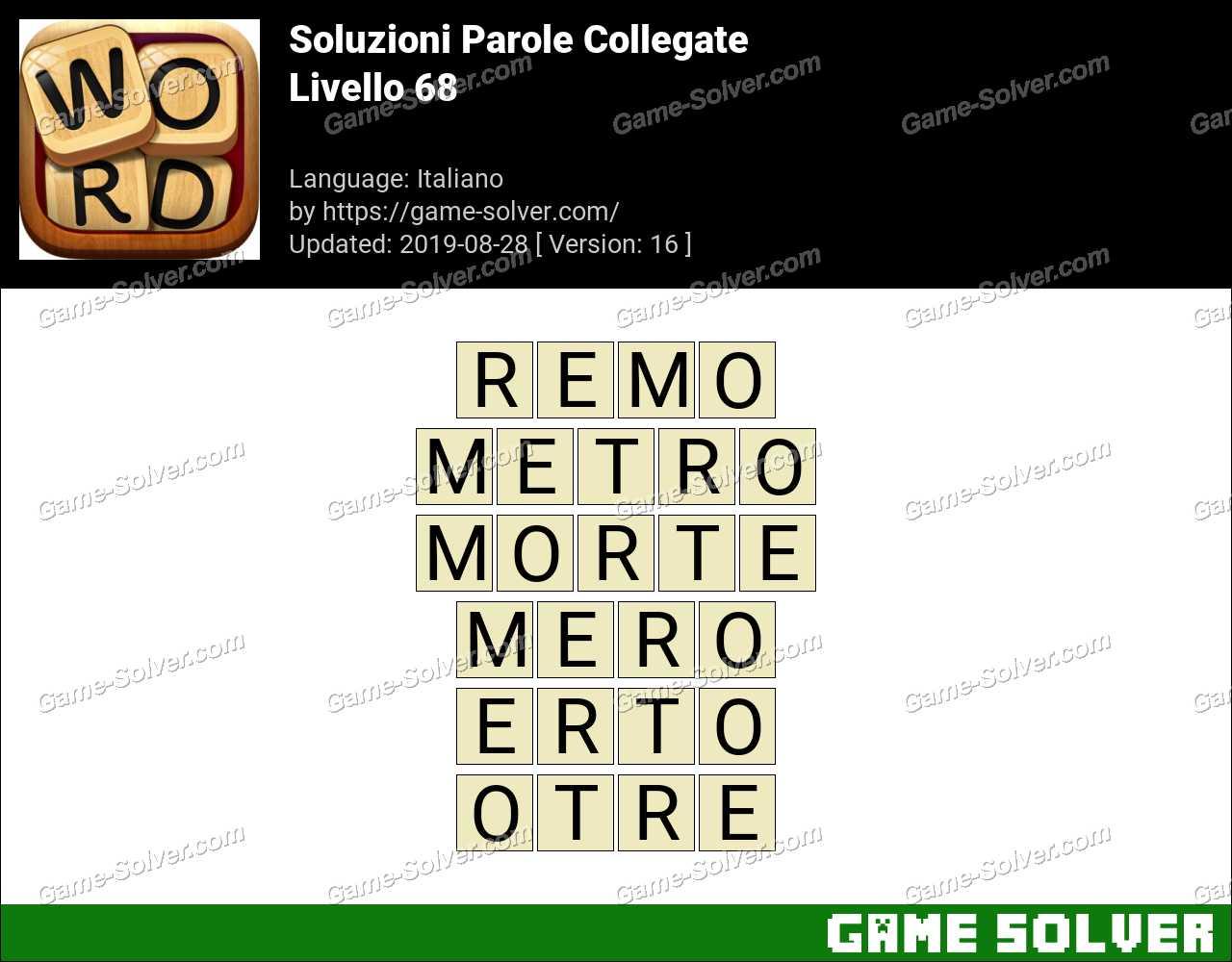 Soluzioni Parole Collegate Livello 68