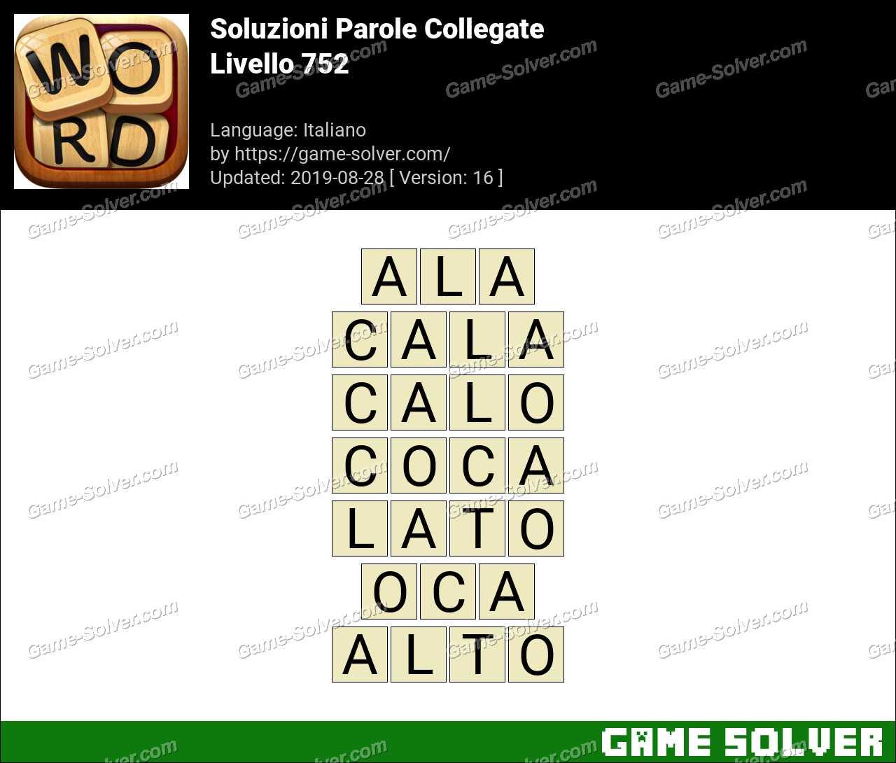 Soluzioni Parole Collegate Livello 752
