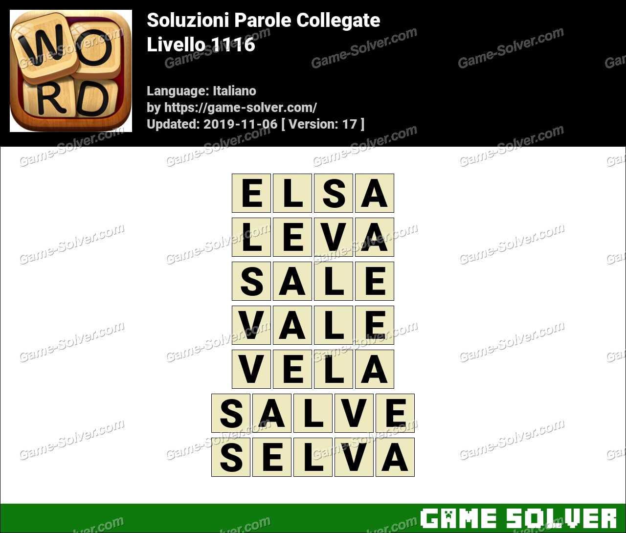 Soluzioni Parole Collegate Livello 1116