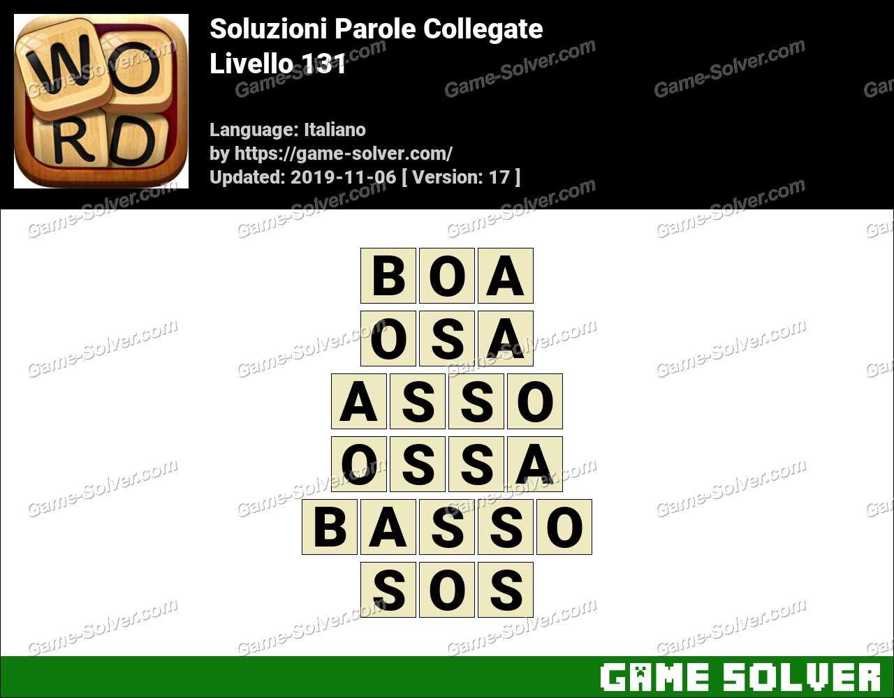 Soluzioni Parole Collegate Livello 131