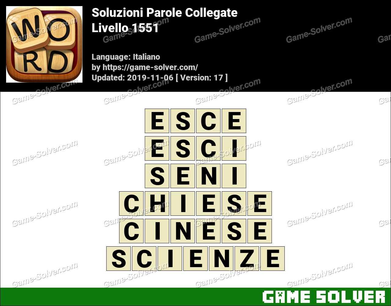 Soluzioni Parole Collegate Livello 1551