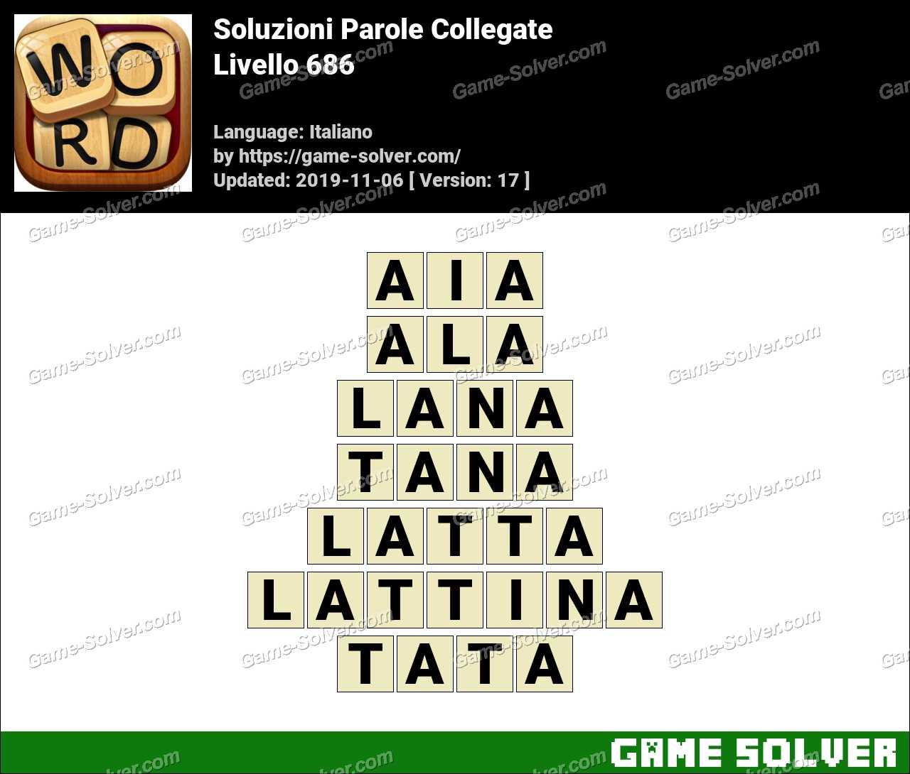 Soluzioni Parole Collegate Livello 686