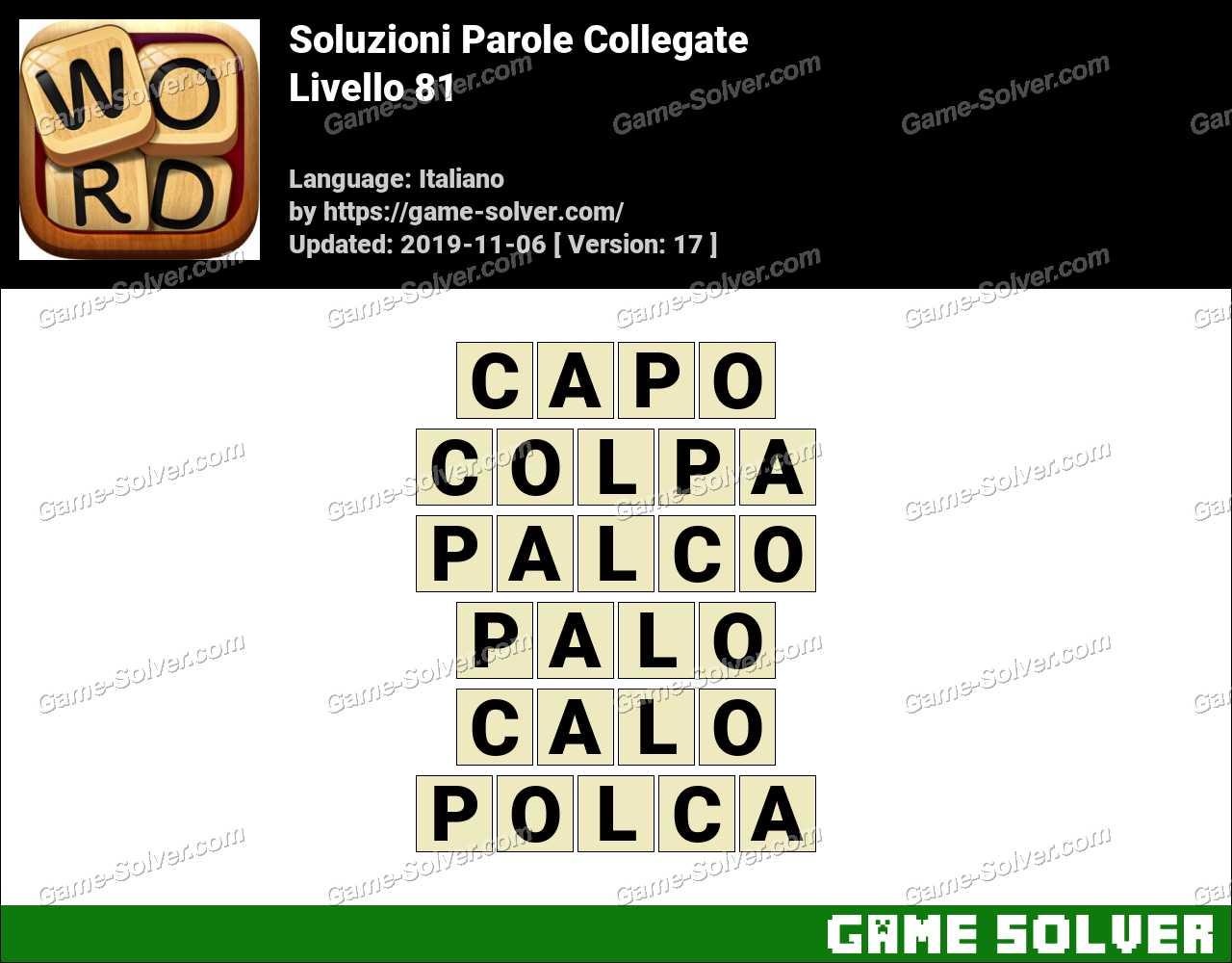 Soluzioni Parole Collegate Livello 81
