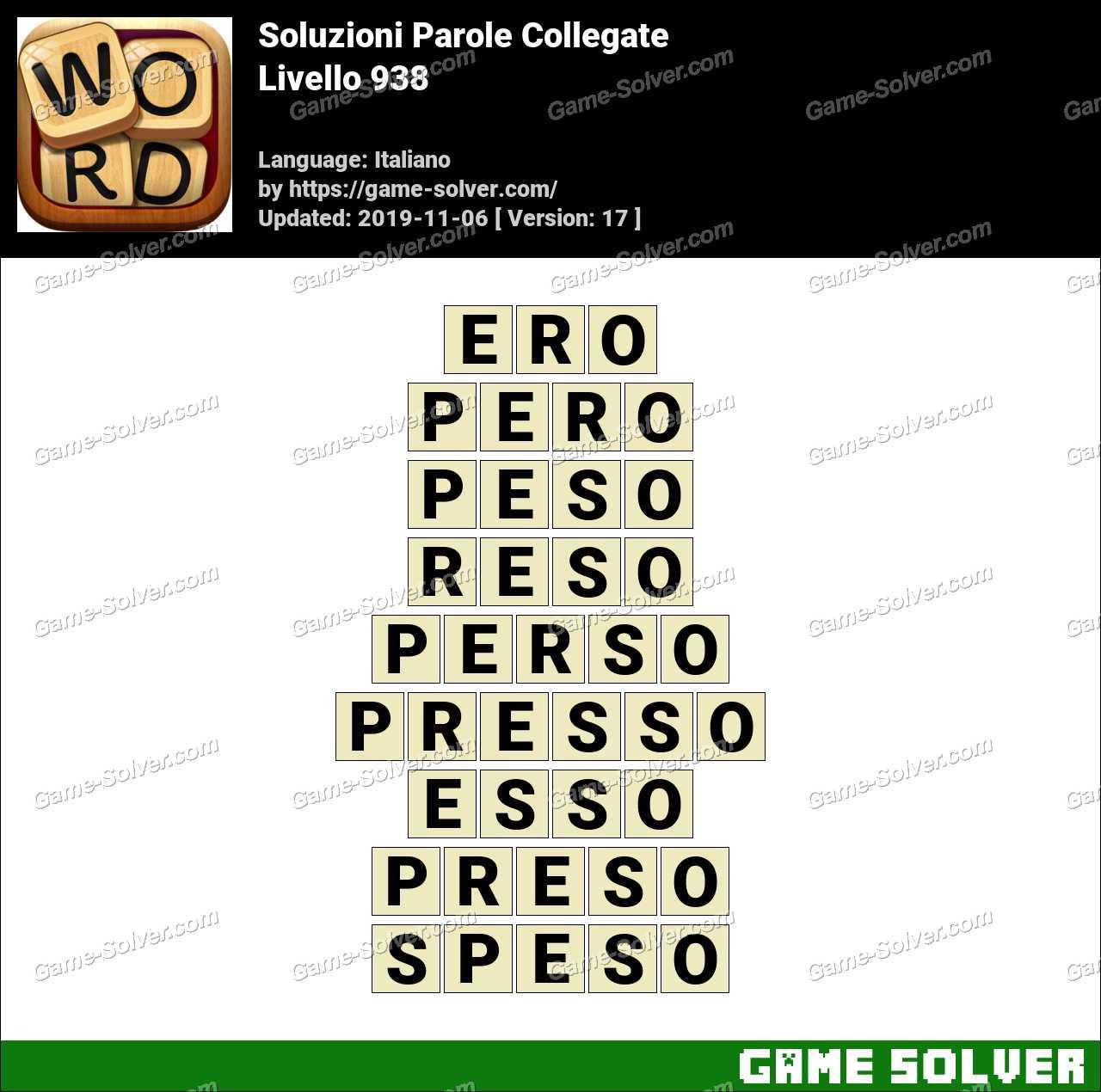 Soluzioni Parole Collegate Livello 938