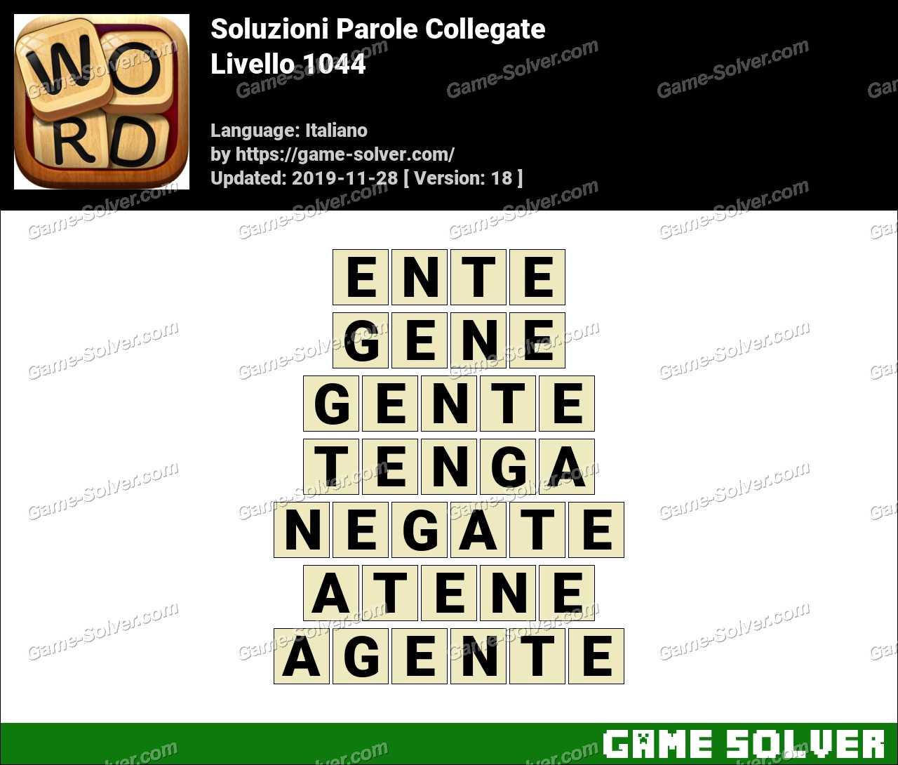 Soluzioni Parole Collegate Livello 1044