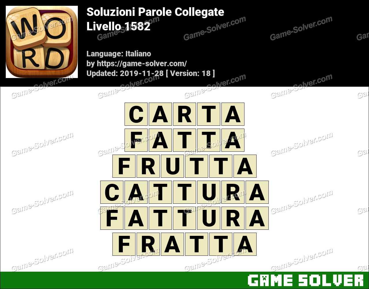 Soluzioni Parole Collegate Livello 1582