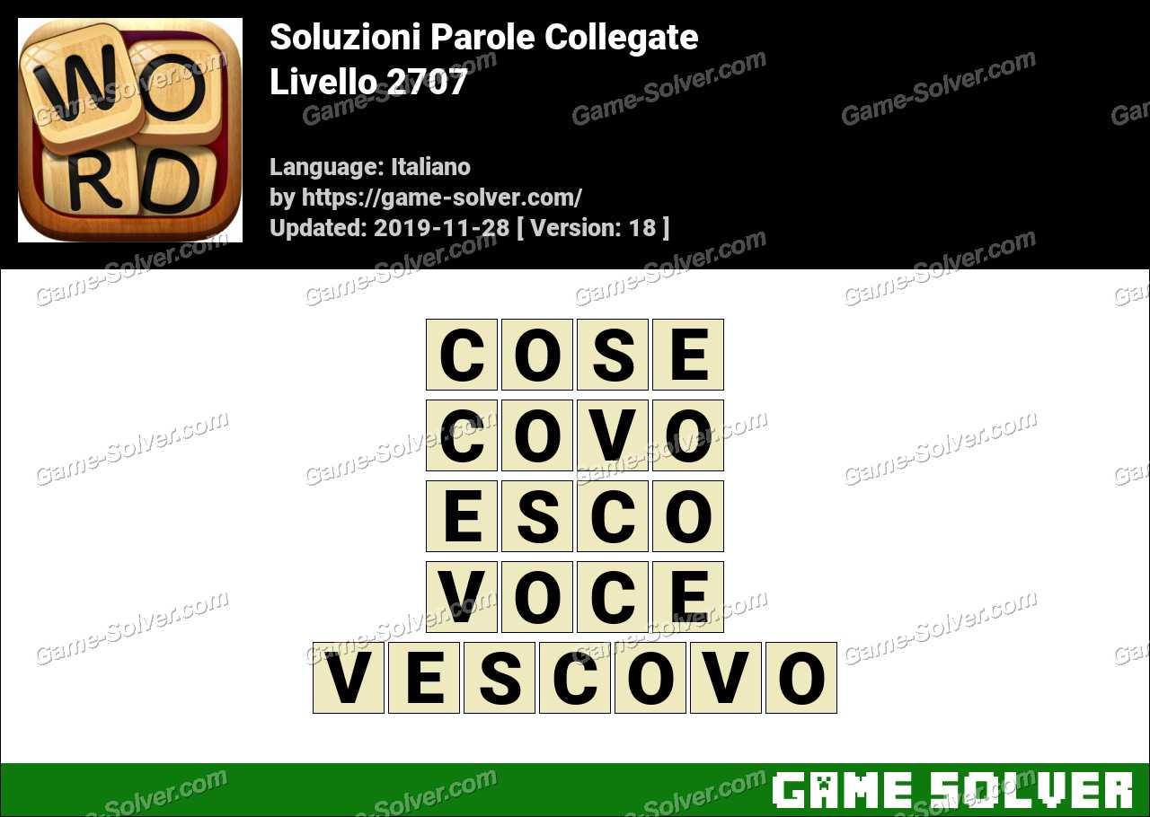 Soluzioni Parole Collegate Livello 2707