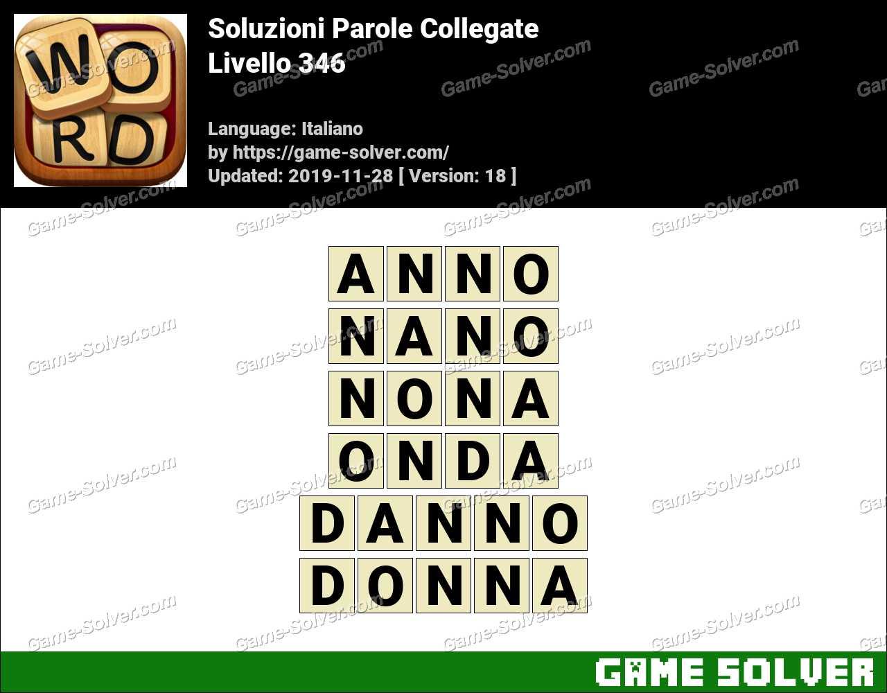 Soluzioni Parole Collegate Livello 346