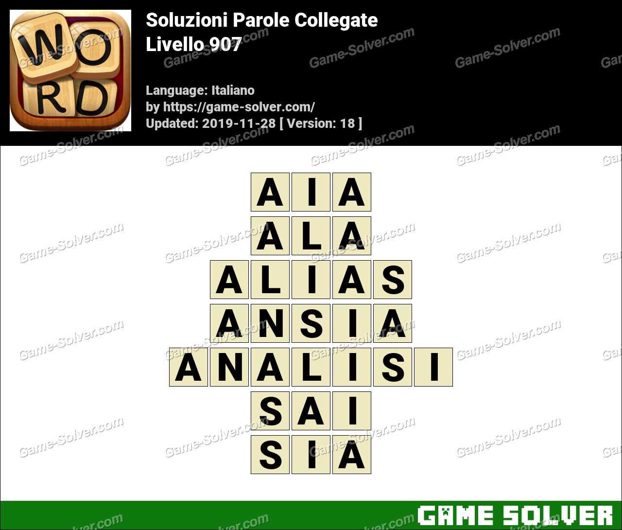 Soluzioni Parole Collegate Livello 907