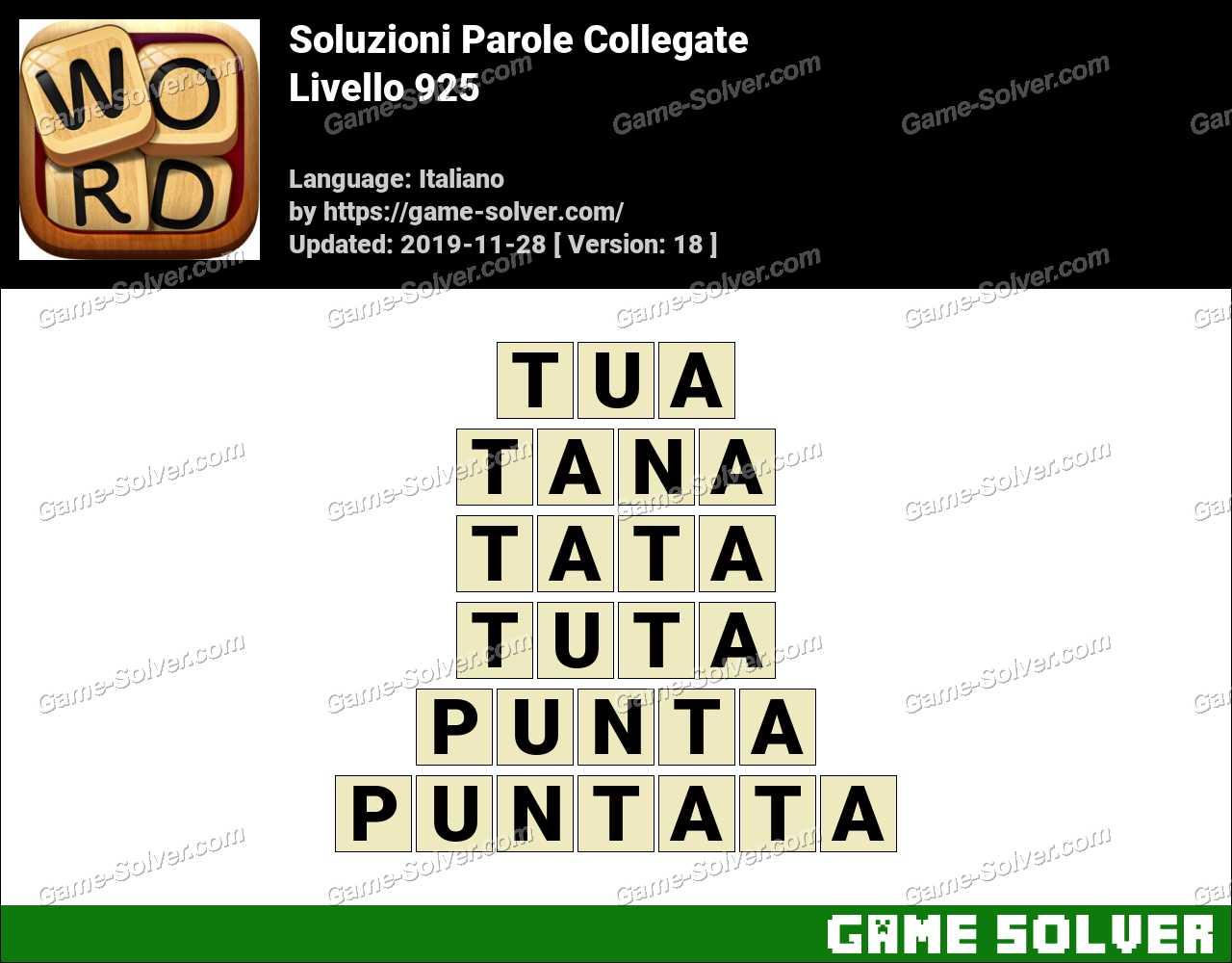 Soluzioni Parole Collegate Livello 925