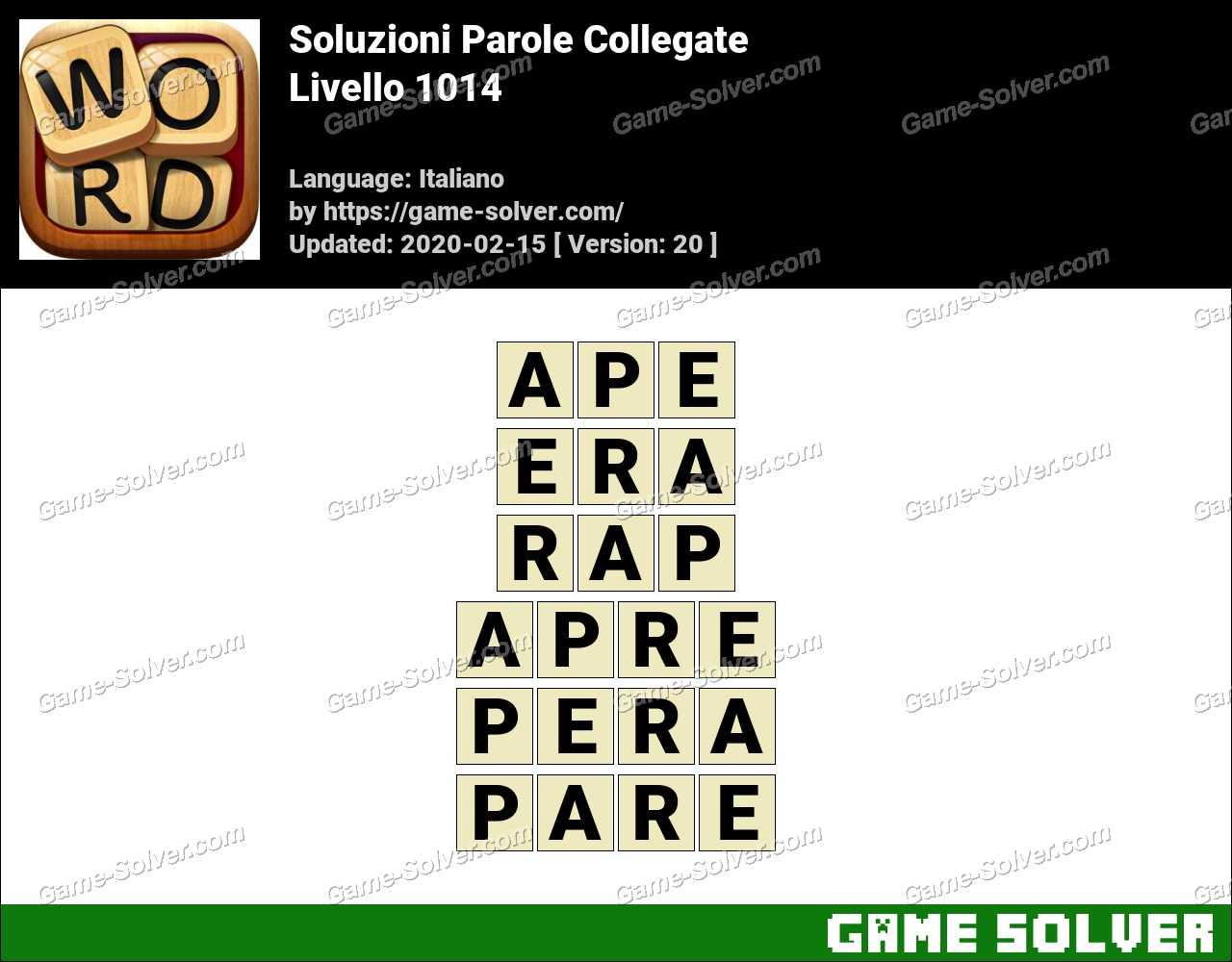 Soluzioni Parole Collegate Livello 1014
