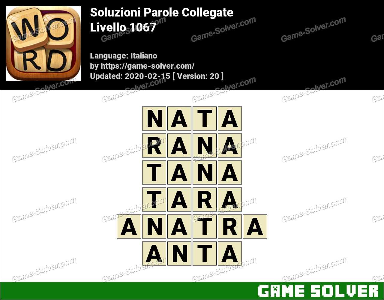 Soluzioni Parole Collegate Livello 1067