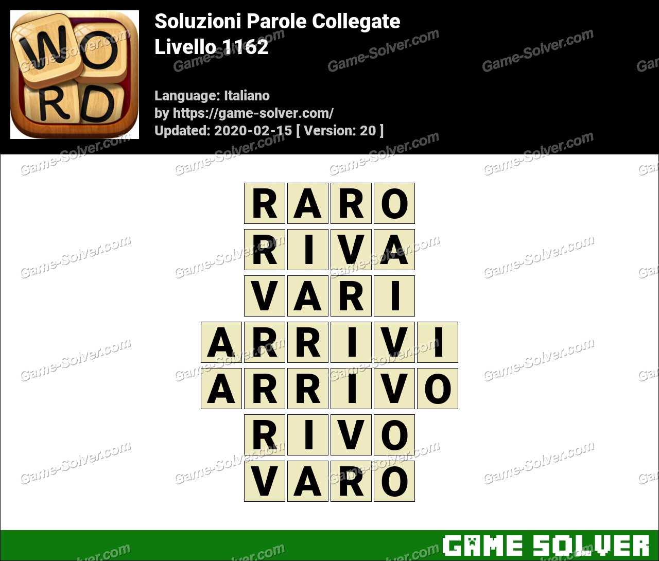 Soluzioni Parole Collegate Livello 1162