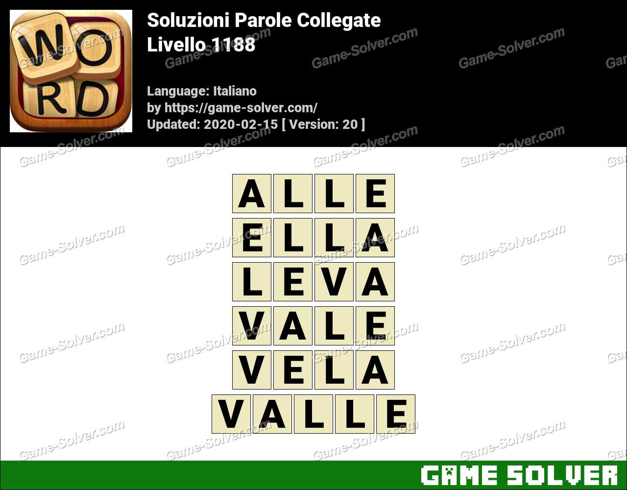 Soluzioni Parole Collegate Livello 1188