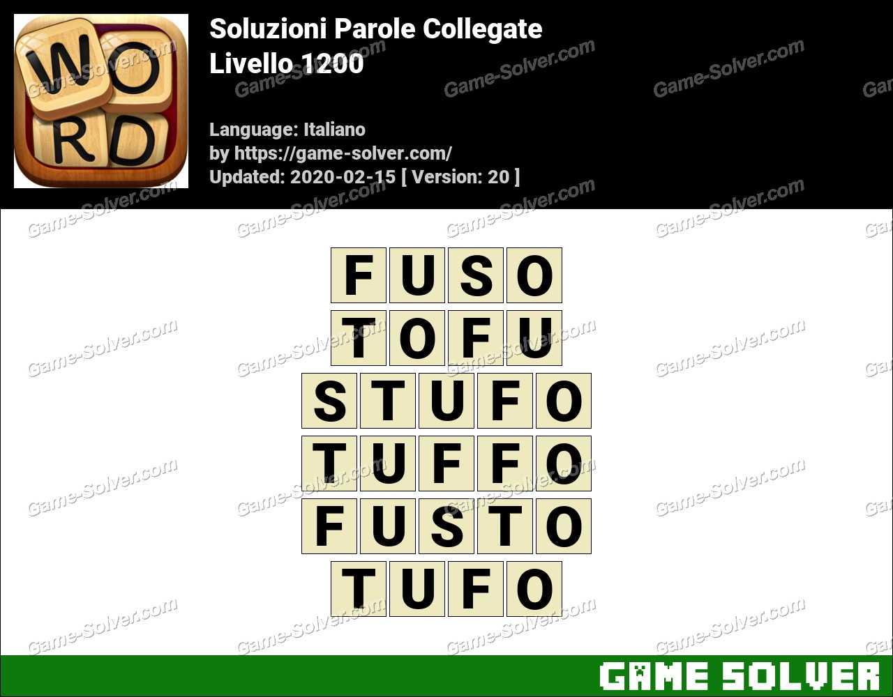 Soluzioni Parole Collegate Livello 1200